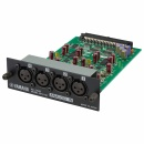 YAMAHA 4-channel line-level analog input card. 4-balanced XLR